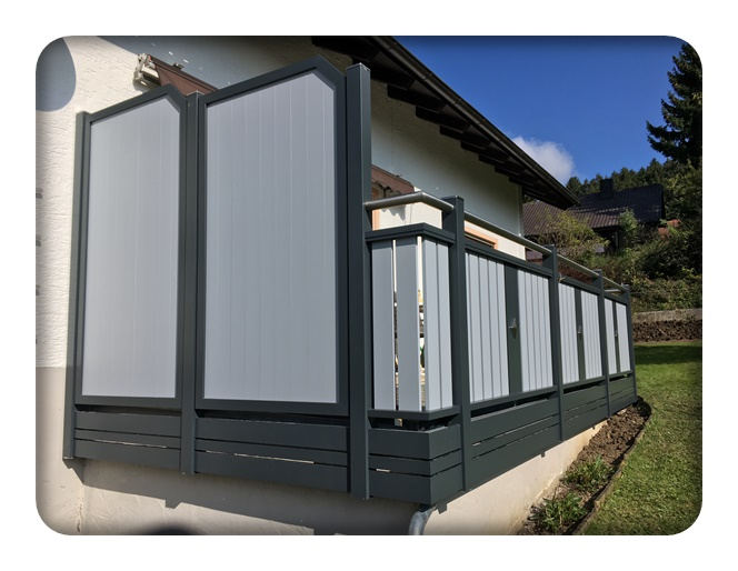 ha 553 balkon zaun bausysteme allg u ug. Black Bedroom Furniture Sets. Home Design Ideas