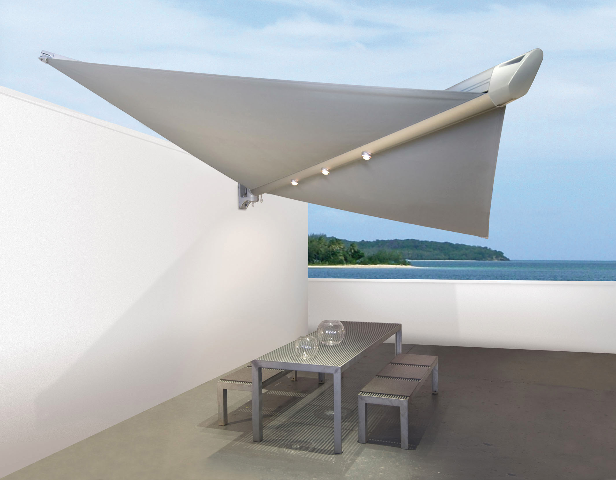 markisen f r balkon terrasse und garten balkon zaun bausysteme allg u ug. Black Bedroom Furniture Sets. Home Design Ideas